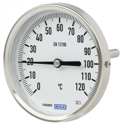 Thermomètre bimétallique à cadran tout inox
