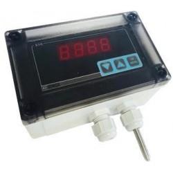 Boitier d'ambiance extérieure ou frigorifique avec affichage LED alimentation par boucle de courant