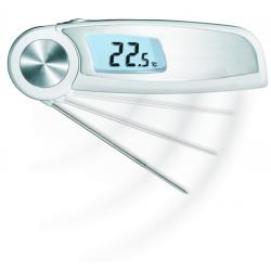 Thermomètre digital pliant étanche avec sonde à piquer