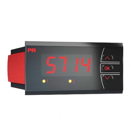 Indicateur numérique configurable format 48x96 mm 5714