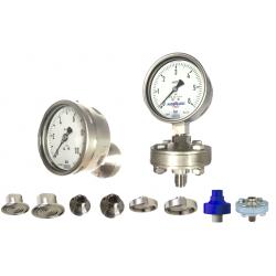 Manomètre tout inox monté sur séparateur application process industriel