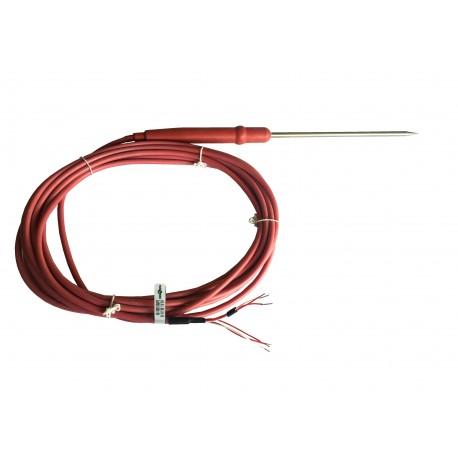 Sonde PT100 duplex alimentaire à piquer, à câble de raccordement