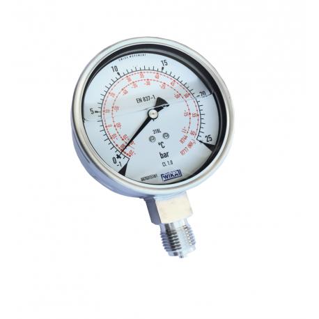 Manomètre tout inox application froid industriel 233.50