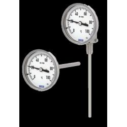 Thermomètre bimétallique à cadran tout inox boitier orientable et inclinable
