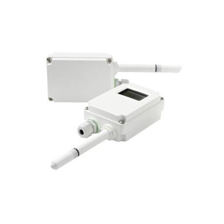 Transmetteur d'humidité relative et de température, boitier industriel. Application supérieure