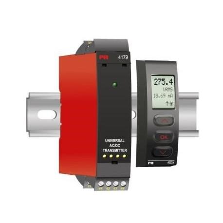 Transmetteur universel isolé montage rail DIN, configurable, alimentation multi-tension CC/CC
