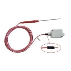 Sonde PT100 alimentaire à piquer, sortie connecteur jack anti-arrachement