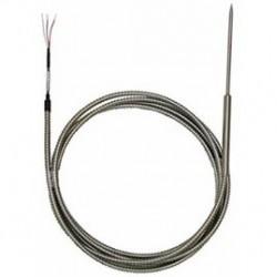 Sonde PT100 à piquer avec câble de raccordement protégé par un flexible inox