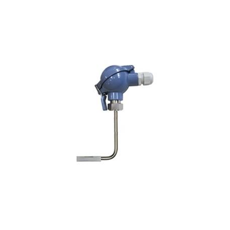Sonde PT100 de contact pour tuyauterie avec tête de raccordement