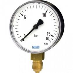 Manomètre boitier acier raccord laiton