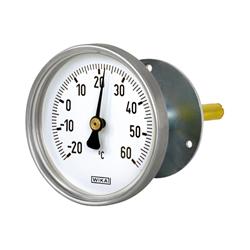 Thermomètre bimétallique à cadran boitier aluminium application génie climatique