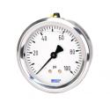 Manomètre boitier inox raccord laiton application standard 213.53 raccord arrière - face