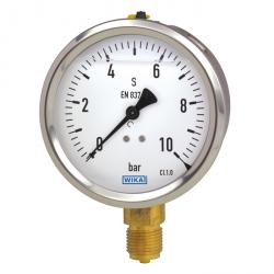 Manomètre boitier inox raccord laiton application standard