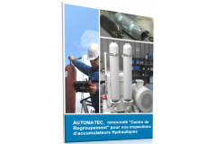 Centre de regroupement pour inspection et traçabilité d'accumulateurs hydrauliques