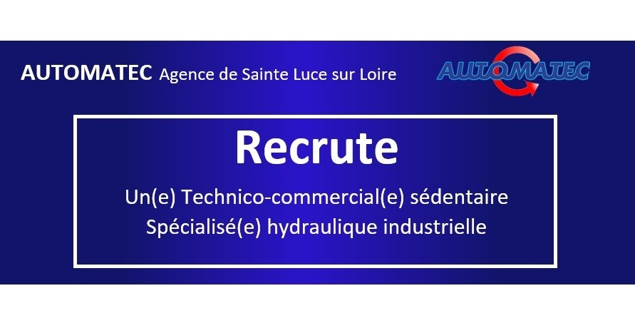 Recrutement technico commercial hydraulique